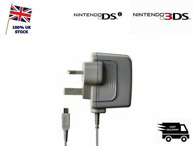 OFFICIAL GENUINE NINTENDO 3DS 2DS DSi & XL CHARGER POWER ADAPTER UK 3 PIN PLUG