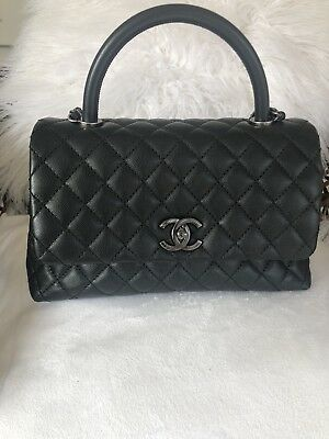 190af68bde9432 AUTHENTIC CHANEL COCO Handle Black. Small - $3,900.00   PicClick