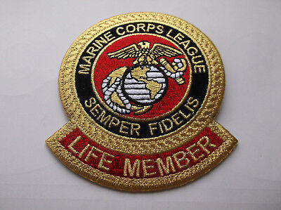 Marine Corps League Patch Life Member