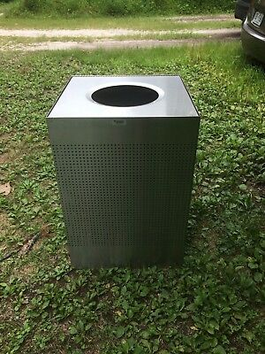 united receptacle 50 gallon stainless steel trashcan