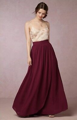 a9e294f9bc192 NEW ANTHROPOLOGIE BHLDN Hitherto Jane Maxi Skirt Size 2 Bridesmaids ...
