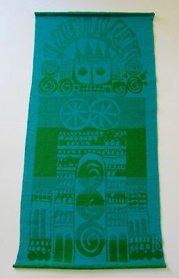 Mid Century Ingalill Sjoblom Sweden Woven Textile Wall Hanging Tapestry