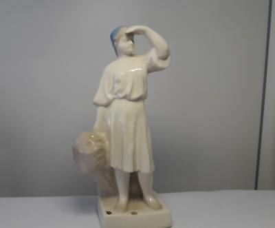 Soviet woman collective farmer with wheat Russian porcelain USSR figurine 7905e