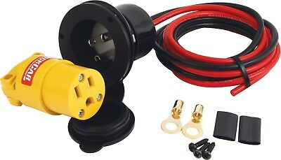 QUICKCAR RACING PRODUCTS 110V Flange Mount Accessory Plug-In Kit P/N 57-723