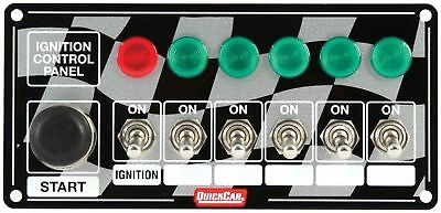 QUICKCAR RACING PRODUCTS 6-7/8 x 3-1/4 in Dash Mount Switch Panel P/N 50-166