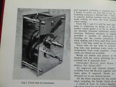 Wildings Make Superb 8 Day Wall-Clock Weight Driven **classic Book On Diy Clocks