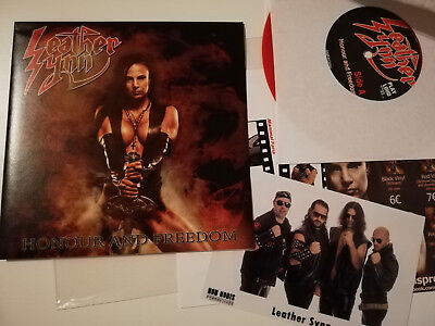 """Leather Synn - Honour And Freedom, 7"""" Vinyl, red/ rot, Heavy Metal"""