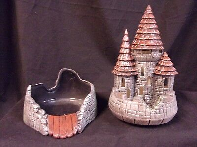 Hand Painted Ceramic Castle Candle Holder