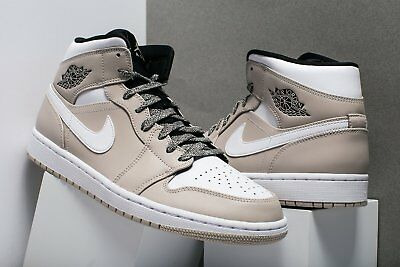 5bed62dcfa25f3 NIKE AIR JORDAN 1 MID Desert Sand White-Black Men s Size 12   14 ...