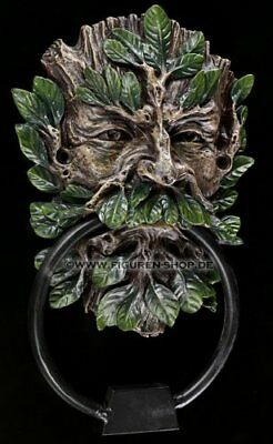 Wildwood Green Man Tree Spirit Door Knocker 21cm Forest Wiccan Home Garden Decor