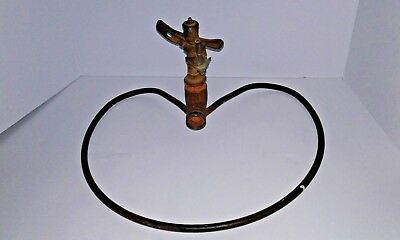 Vintage Water Pick Rain Bird In Heart Metal Display Garden Water Sprinkler