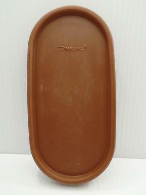 Tupperware 1616 Modular Mates Oval Replacement Seal Lid Brown