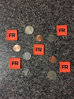 5 Iron On FR Patches Replacement Tags 1 Inch FRC For Shirt Suit Jacket Pant
