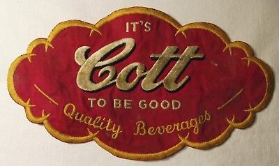 It's Cott to Be Good, Quality Beverages, Patch, Cott Soda, 10 1/4 Inches Long