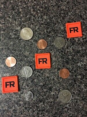 3 Lot Iron On FR Patches Replacement Tags 1 Inch FRC For Shirt Suit Jacket Pant