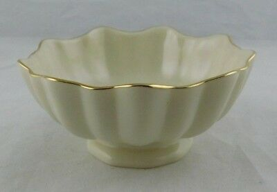 Vintage Lenox small Footed Scalloped Bowl With  Gold Trim Edging