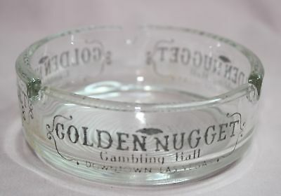 Vintage  Golden Nugget Gambling Hall  Ashtray  Downtown Las Vegas Clear Glass