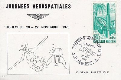 CC66) 1970 Aerospace Days Toulouse-French Republic Guyana Land Of Space CONCORDE