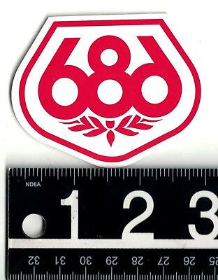 SIX EIGHT SNOWBOARD STICKER 686 White Red 3 In X 24 Snowboard Decal