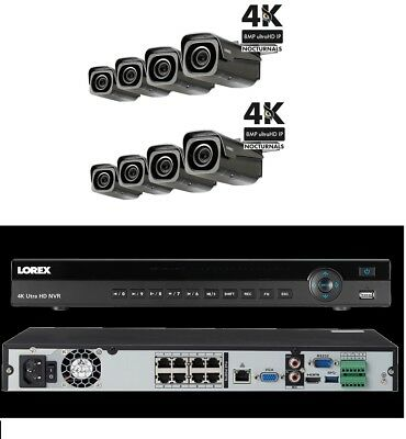 Lorex 4K 8 channel IP system with Motorized Camera  NR9082 with LNB8973B Lot
