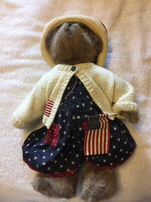 Boyds Bears Exclusive Edition Dolly M. Bearsevelt #918012SM Flag Patriotic