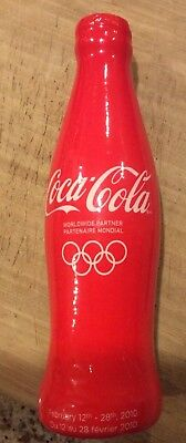 Rare Limited Edition 2010 Olympic Coca Cola Glow Bottle #4131/50000