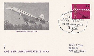CC81) 1974 German Federal Post Office - A Concorde After The Start CONCORDE