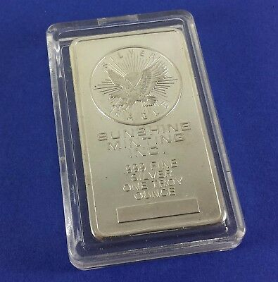 Sunshine Mint 1 Oz. Silver Bar .999 In Clear Case