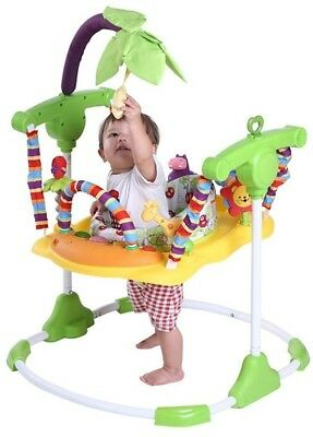 Roger Armstrong Jungle Safari Fever Jumper w Sounds Lights Toys Tray for Baby
