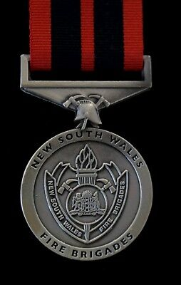 New South Wales Fire Service Medal (Replica) Unmounted with 250mm of ribbon.