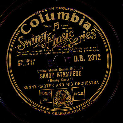 """BENNY CARTER & HIS ORCH. Savoy Stampede """"1939"""" / Scandal in a flat  78rpm  X1910"""