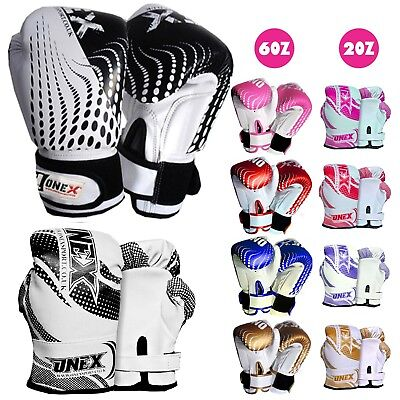 2oz 4oz 6oz Kids Boxing Gloves Junior Mitts PunchBag Children Gel Pad Mitten