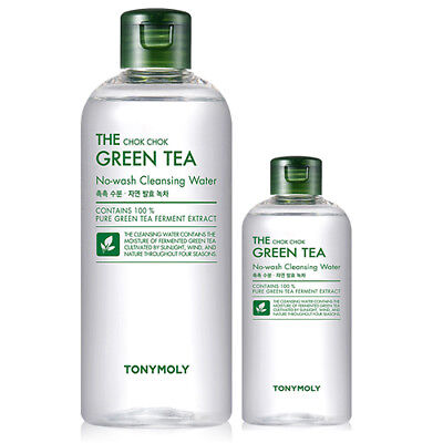 Tonymoly The Chok Chok Green Tea No-Wash Cleansing Water 100ml / 300ml