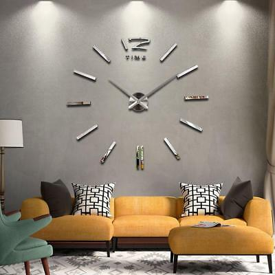 Wall Clock Watch Clocks Modern Antique Style Home Decoration 3D DIY Acrylic