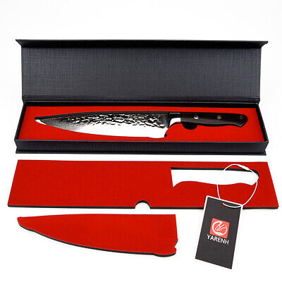 "YARENH 8"" Inch Professional Chef Knife Gyuto Japanese Damascus Kitchen Knives"