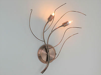 WAWE A2 CP applique classico rustico country rame 2 luci DIAMANTLUX