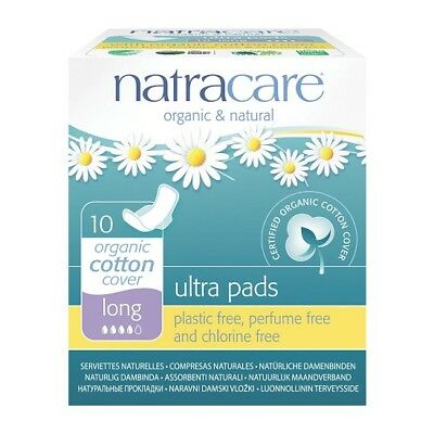 NATRACARE - Natural Feminine Ultra Pads Long with Wings - 10 Pads