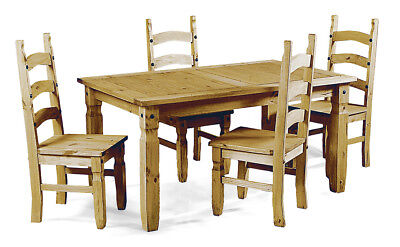 Corona Small Extending Dining Table and 4 Chairs Set Pine by Mercers Furniture®