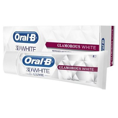 2x Oral B 3D White Luxe Glamorous White Toothpaste 75ml