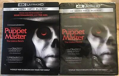 New Puppet Master The Littlest Reich 4K Ultra Hd + Blu Ray With Slipcover