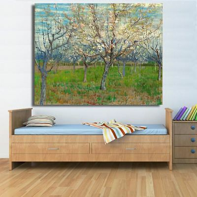 The Pink Orchard By Vincent Van Gogh Canvas Oil Painting Wall Art Pictures Decor