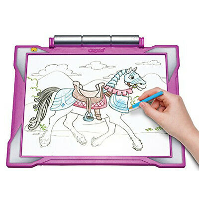 CRAYOLA LIGHT-UP TRACING Pad Blue, Coloring Board for Kids, Gift ...
