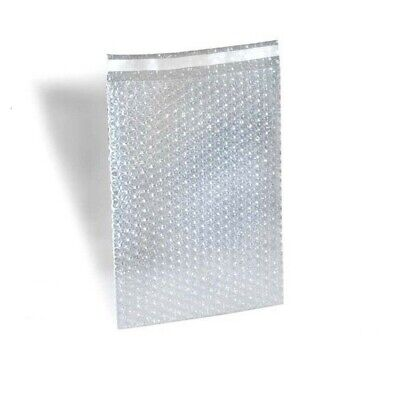 """Bubble Out Padded Mailers 6"""" x 8.5"""" Clear w/ High Adhesive Seal Strip 650 pcs"""