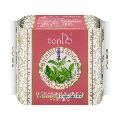 TianDe Nephrite Freshness Herb Daily Panty Liners with Anions Organic 20pcs