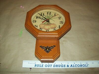 Vintage Sunset Time Inc. Onion Wall Clock, Quartz Movement very nice