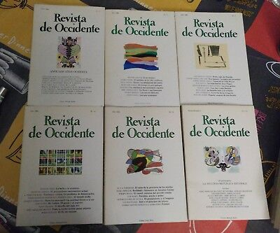 LOTE DE 13 REVISTAS de Occidente 1980-1984