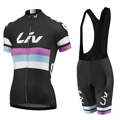 Team Giant Liv Design Womens Cycling Jersey and Bib Shorts Set (UK SELLER) d56346270