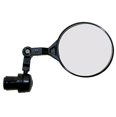 M Wave Bike Cycle Bar End Mounted Rear View 3D Mirror in Black