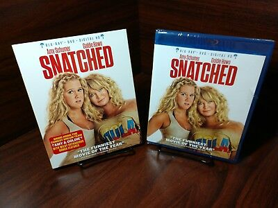 Snatched(Blu-ray/DVD)w/Slipcover-Discs not used-Only Digital Code Taken-Free S&H