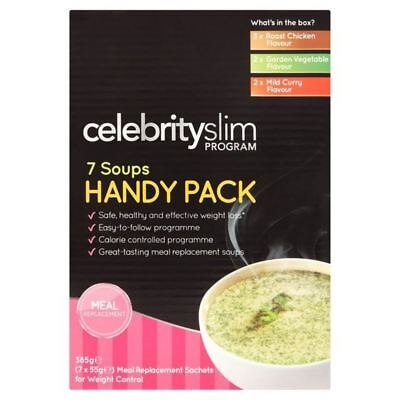 4x Celebrity Slim Assorted Soups, Handy Packs 7 per pack